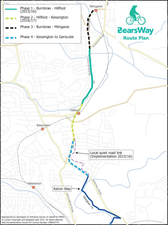Route plan map