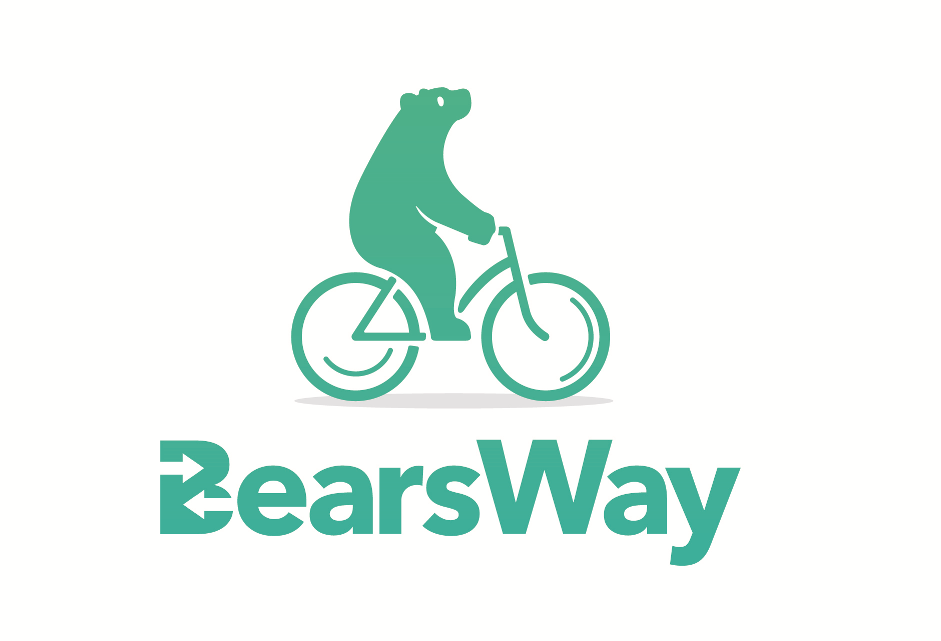 Bears Way Logo - bear on a cycle