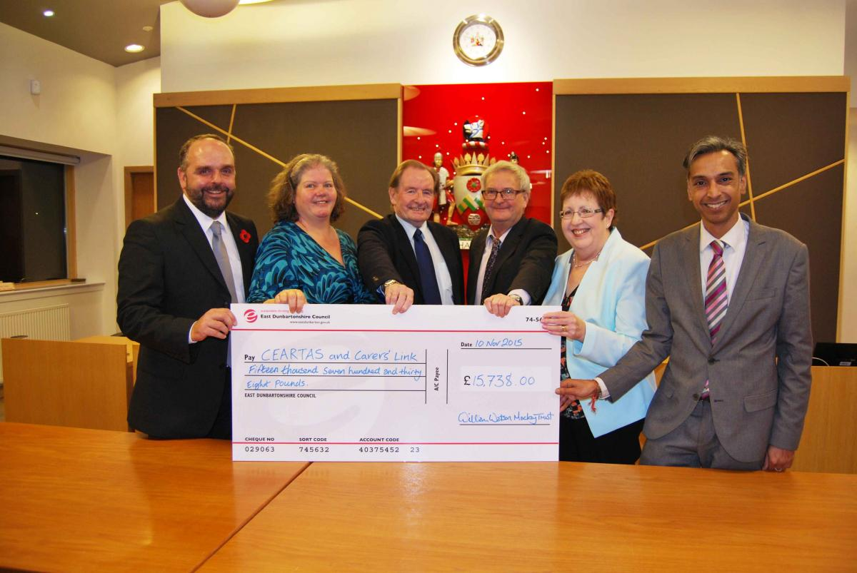 Local Good Causes share £15k windfall from William Watson