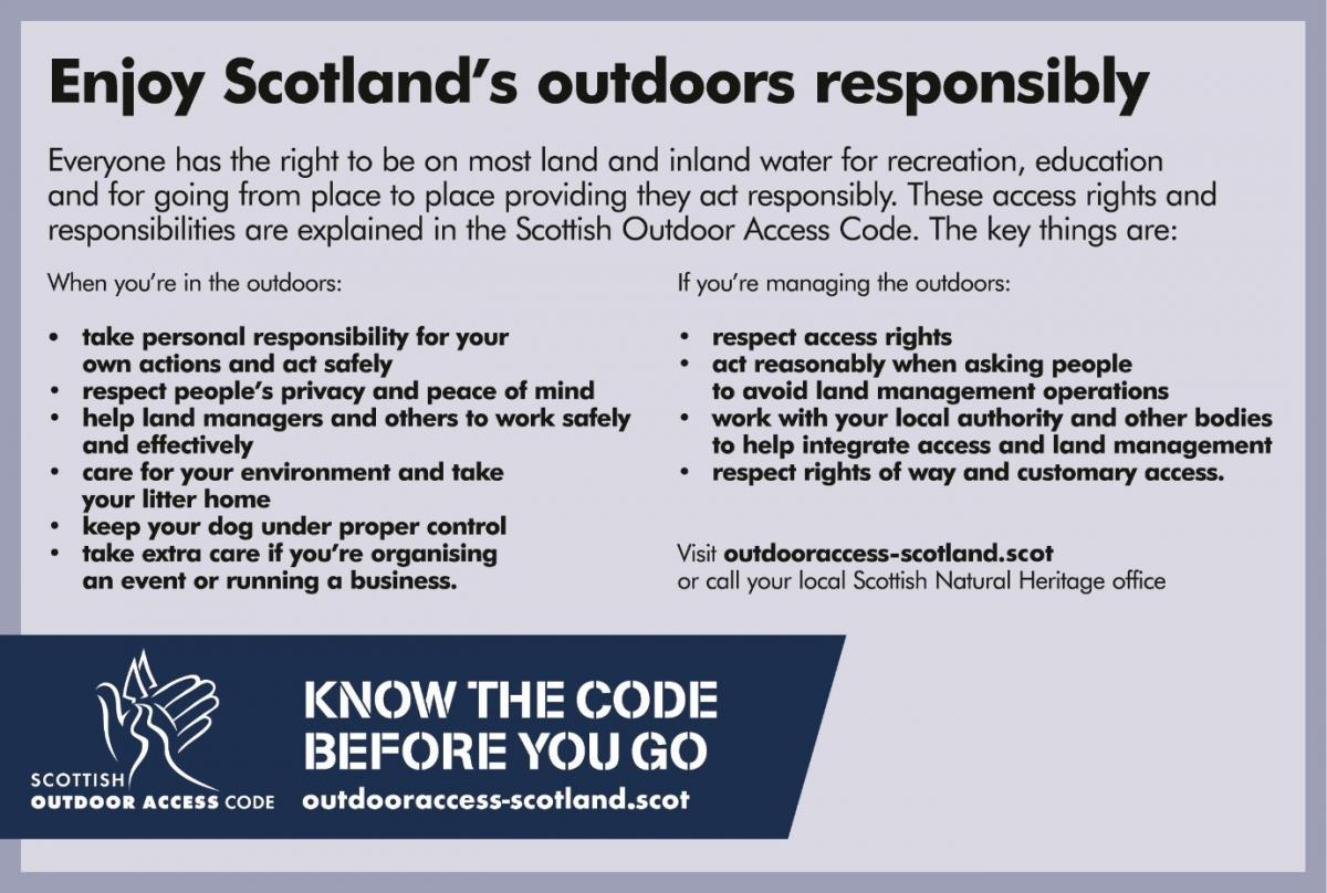 poster about Scotland's outdoors responsibly