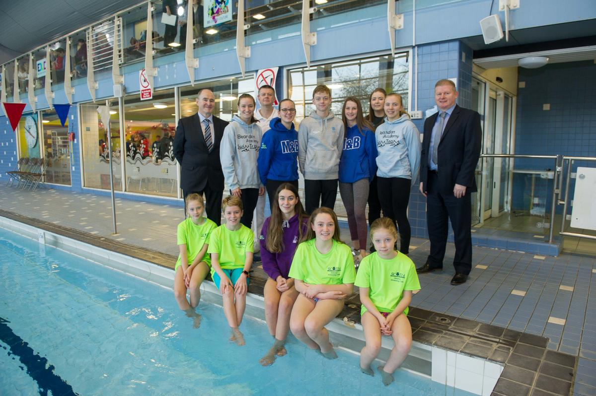 image of swimmers and council staff