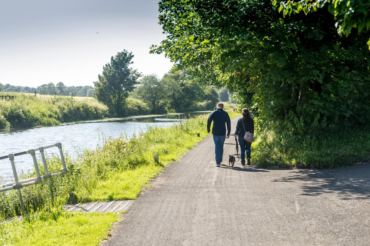 walkers on canal path